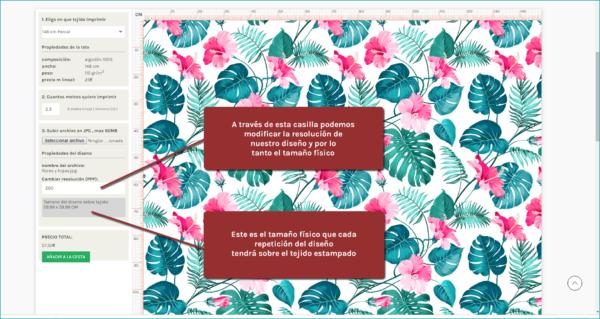 personalizar tejido en modo rapport